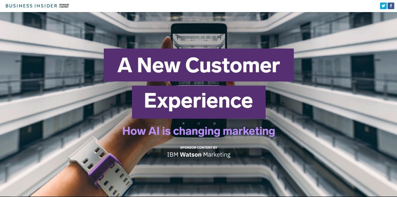 B2B-Marketing-Beispiel von IBM zu Native Advertising
